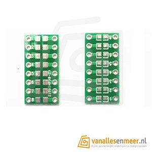 Adapter pcb smd 0805 0603 0402  naar dip