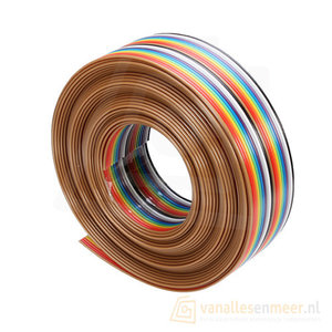 Bandkabel flat cable 20-polig Rainbow 1.27mm 1m