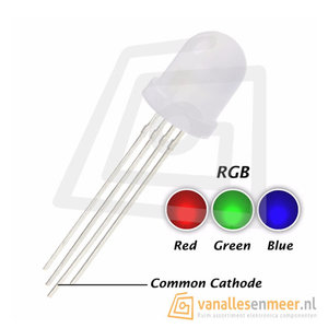 8mm LED  RGB Diffused common cathode