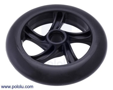 Scooter/Skate Wheel 144×29mm - Black  Pololu 3281
