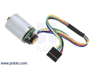 LP 6V Motor with 48 CPR Encoder for 25D mm Metal Gearmotors (No Gearbox)  Pololu 2280