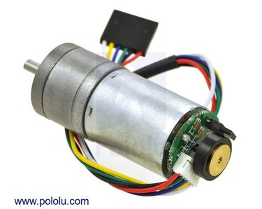 4.4:1 Metal Gearmotor 25Dx48L mm LP 6V with 48 CPR Encoder  Pololu 2281