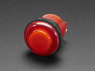Arcade Button with LED - 30mm Translucent Red  Adafruit 3489