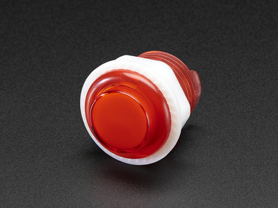 Mini LED Arcade Button - 24mm Translucent Red Adafruit 3430
