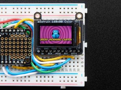 "0.96"" 160x80 Color TFT Display w/ MicroSD Card Breakout - ST7735  Adafruit 3533"