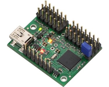 Mini Maestro 12-Channel USB Servo Controller (Assembled) Pololu 1352