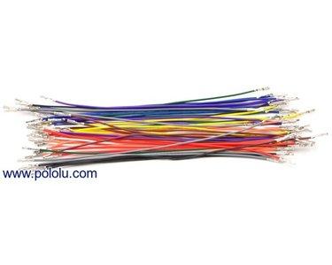 Wires Pre-crimped Terminals 50-Piece 10-Color  F-F 15cm Pololu 1800