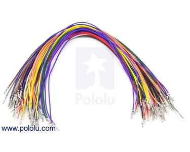 Wires Pre-crimped Terminals 50-Piece 10-Color  F-F 30cm Pololu 1803