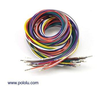 Wires Pre-crimped Terminals 50-Piece 10-Color  F-F 90cm Pololu 2000