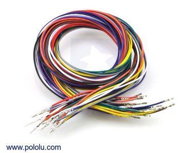 Wires Pre-crimped Terminals 50-Piece 10-Color M-F 90cm Pololu 2001