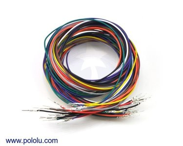 Wires Pre-crimped Terminals 50-Piece 10-Color M-M 90cm Pololu 2002