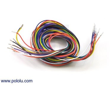 Wires Pre-crimped Terminals 50-Piece 10-Color  M-F 150cm Pololu 2004