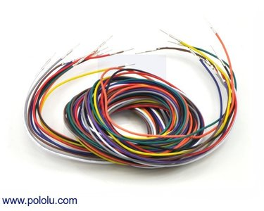 Wires Pre-crimped Terminals 50-Piece 10-Color  M-M 150cm Pololu 2005