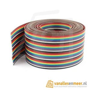 Bandkabel flat cable 40-polig Rainbow 1.27mm 1m Ribbon