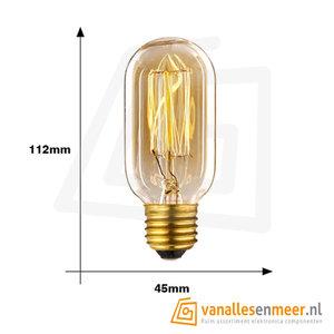Retro Edison vintage gloeilamp E27 T45 Filament