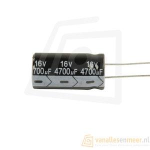 4700uF 16V Condensator 13x25