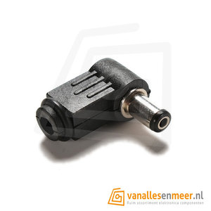 DC connector 2.1x5.5 male Haaks