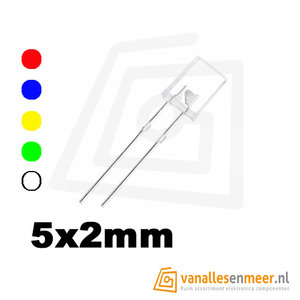 2x5x7mm led helder kleur