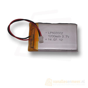 Lithium Ion Polymer batterij - 3,7 V 1200mAh 62x35x5mm