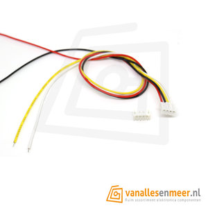JST 2.0 PH 4pin set recht met kabel 30cm
