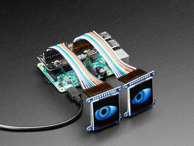 geanimeerde ogen Bonnet voor Raspberry Pi-pakket  Adafruit 3813