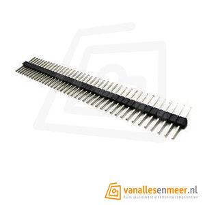Header male 1x40  gelijke lengte pins, pitch 2,54
