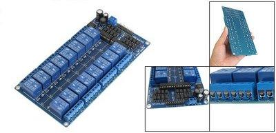 Relais board 16-kanaals 12V