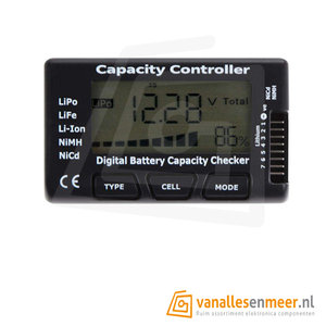 NiMH Cell Digitale Batterij Capaciteit Checker voor NiCd LiPo LiFe Li-ion