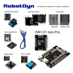 IoT Shields KIT for WeMos / D1 mini PRO - complete set  RobotDyn