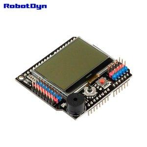 LCD 128x64 Buzzer Shield voor Arduino Uno, Mega 2560, Leonardo RobotDyn