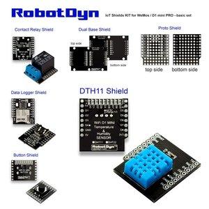 IoT Shields KIT voor WeMos / D1 mini PRO - basisset  RobotDyn