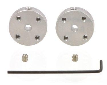 aluminium montagehub voor 3 mm as, # 2-56 gaten (2-pack)  Pololu 1079