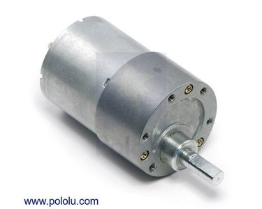 50:1 Metal Gearmotor 37Dx54L mm Pololu 1104