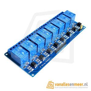 5VDC Relais board 8-kanaals