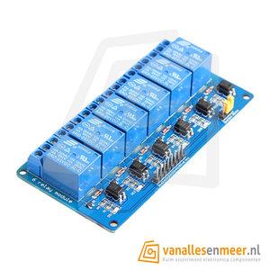 5VDC Relais board 6-kanaals