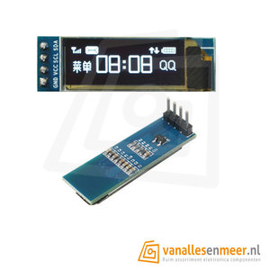 Oled display 128x32 I2C 3,3V-5V Wit