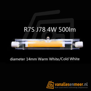 R7S 4W LED 360gr 78mm COB