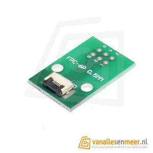 FPC/FFC flat cable PCB  6P met connector