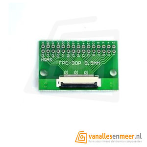 FPC/FFC flat cable PCB 30P met connector