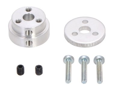 Aluminum Scooter Wheel Adapter for 1/4″ Shaft  Pololu 2675