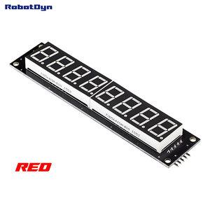 8-Digit LED Display Rood Tube 7-segments, decimale punten, 101x19mm, 74HC595