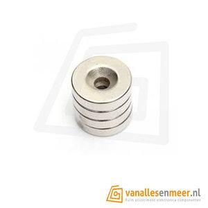 Magneet 12mm met schroefgat  Neodymium