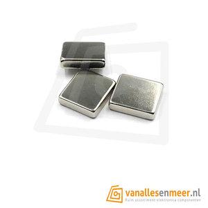 Blokmagneet 10x10x2mm  Neodymium