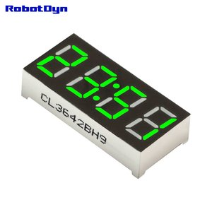4-Digit 0.36 inch 7-segments, common-anode green   Robotdyn