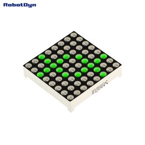 Matrix 8x8 LED, 32x32mm Green-common anode   Robotdyn