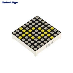 Matrix 8x8 LED, 32x32mm Yellow-common anode   Robotdyn