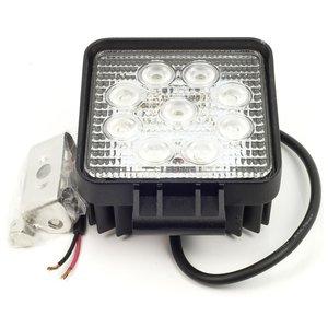 27 watt LED werklamp 12v 24v  Breedstraler 60° 27w