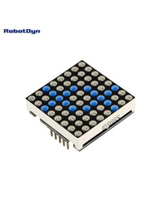 Matrix LED 8x8 module. 32x32mm. Driver - MAX7219/7221-Blue Robotdyn