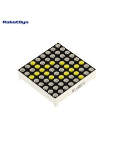 Matrix LED 8x8 module. 32x32mm. Driver - MAX7219/7221-Yellow Robotdyn