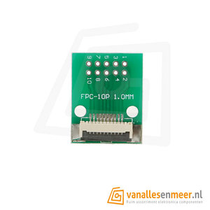 FPC/FFC flat cable PCB 10P 1mm met connector
